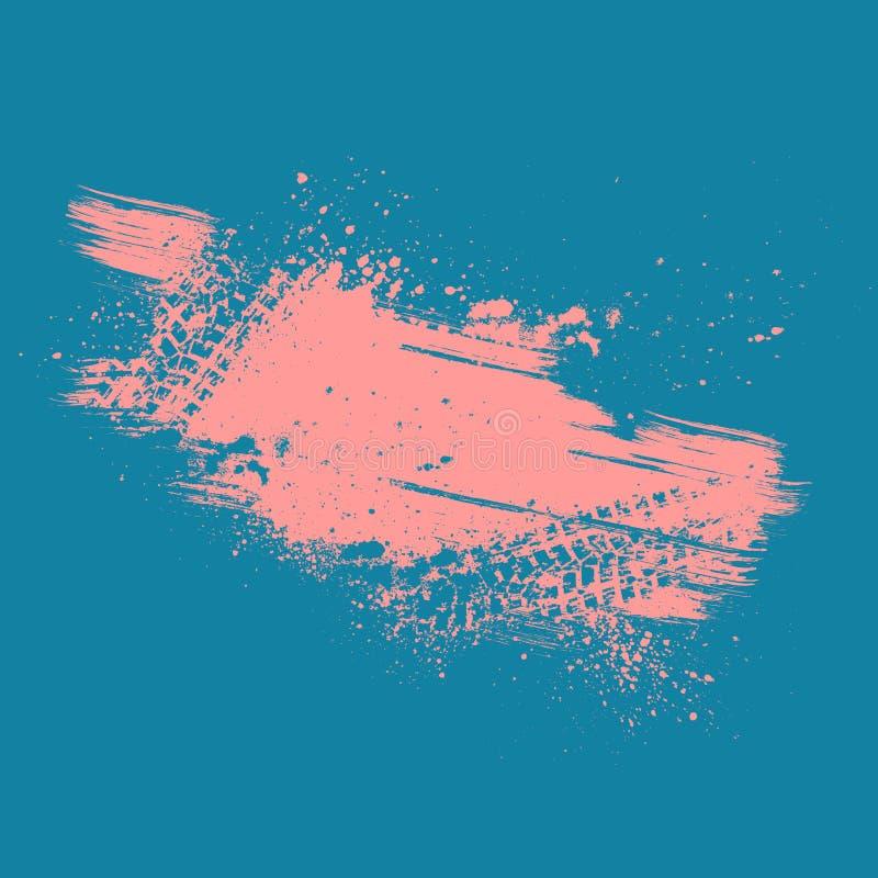 Предпосылка следа автошины коралла Grunge иллюстрация вектора