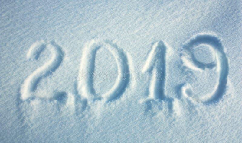 Предпосылка снега Нового Года 2019 стоковые фотографии rf