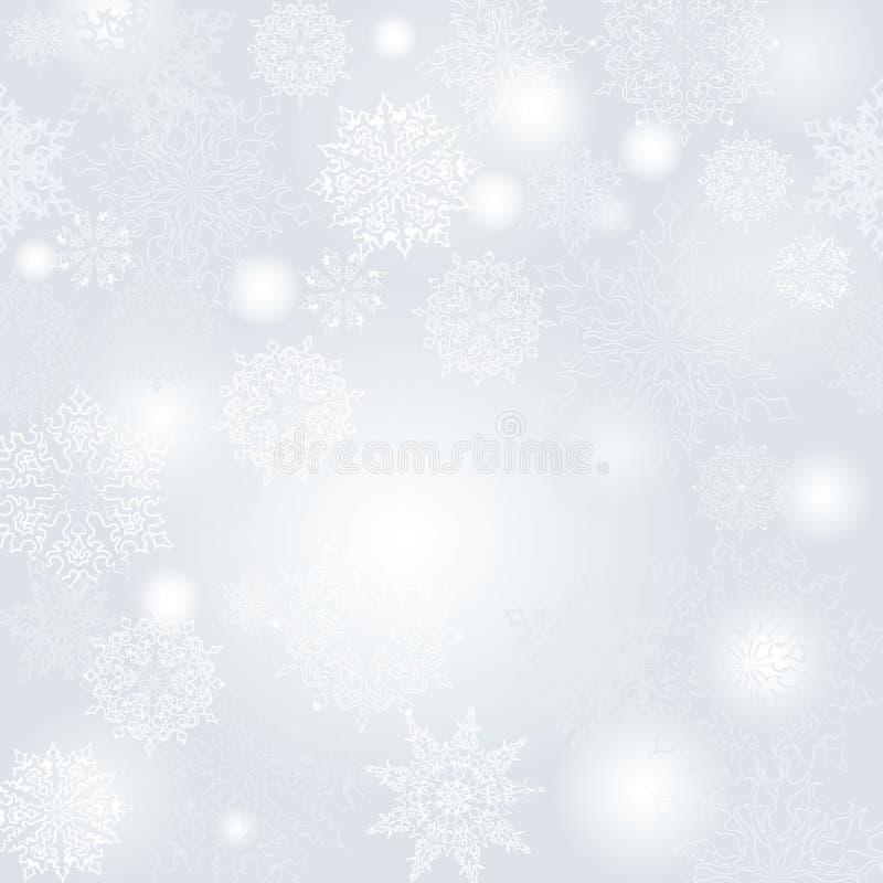 Предпосылка снежинок безшовная иллюстрация вектора