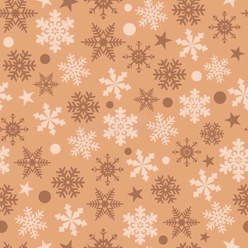 Предпосылка снежинок вектора безшовная иллюстрация штока