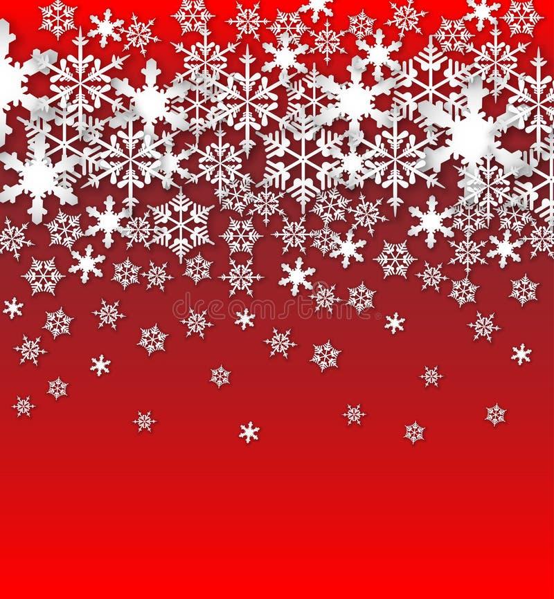 Предпосылка снежинок вектора стоковое фото rf