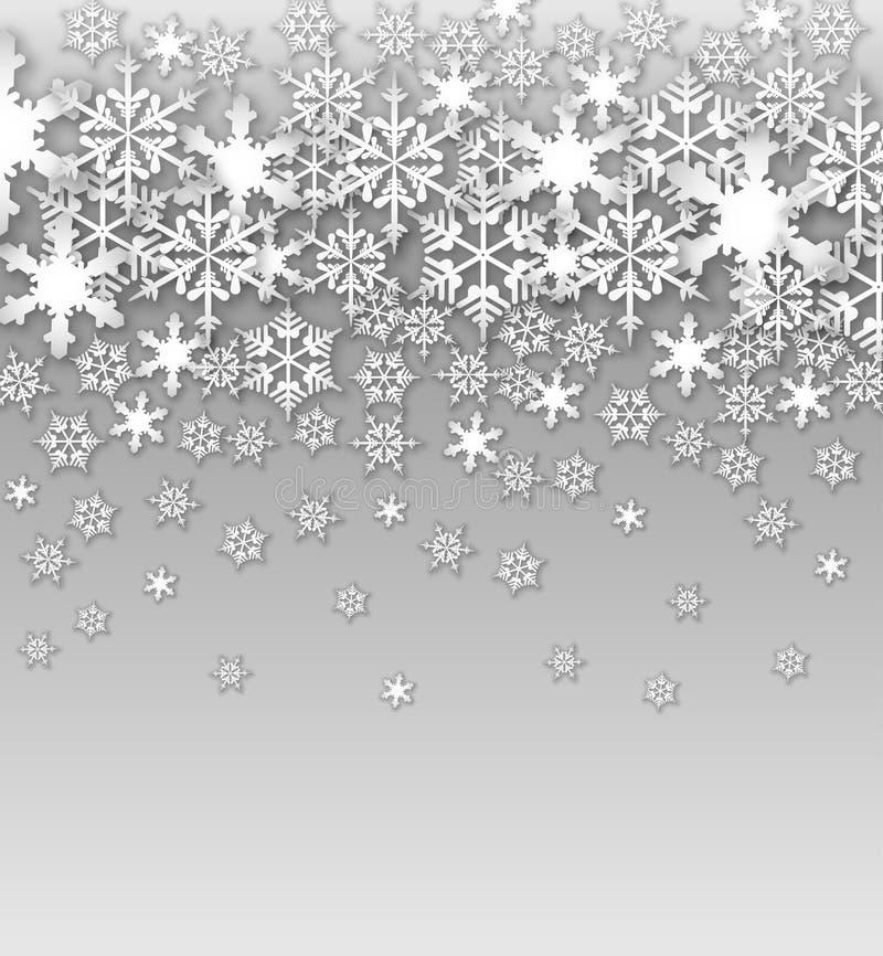 Предпосылка снежинок вектора стоковое изображение rf