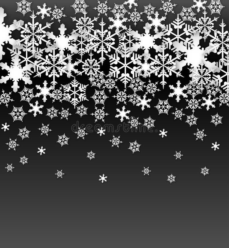 Предпосылка снежинок вектора стоковое фото