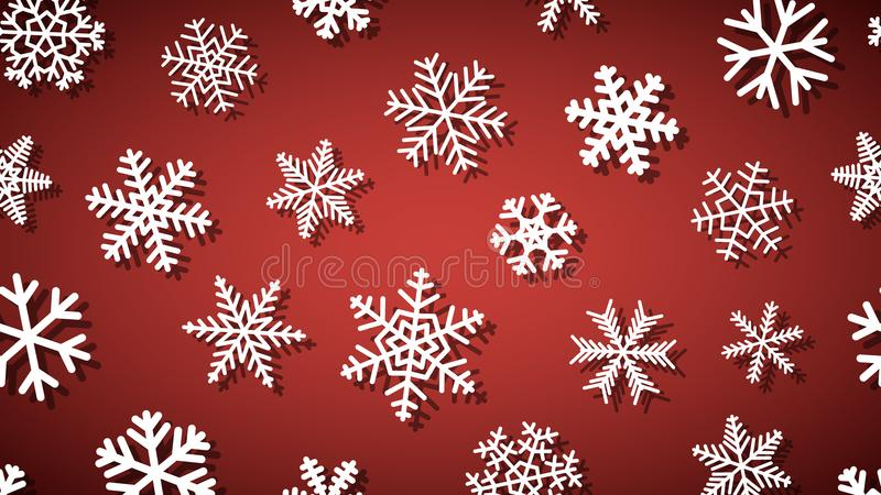 Предпосылка снежинок с тенями бесплатная иллюстрация