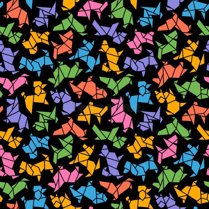 Предпосылка собаки Origami вектора безшовная иллюстрация штока