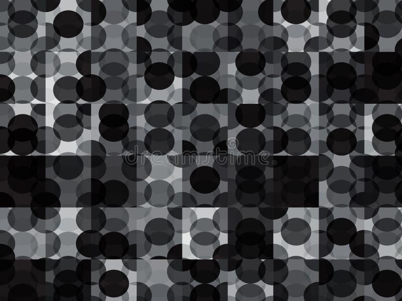 Предпосылка современных кругов геометрическая иллюстрация вектора