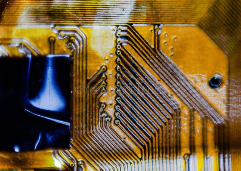 Предпосылка создалась со съемкой детали напечатанной проводки теперь спасибо технология мы можем создать всегда небольшое и больш стоковое фото rf
