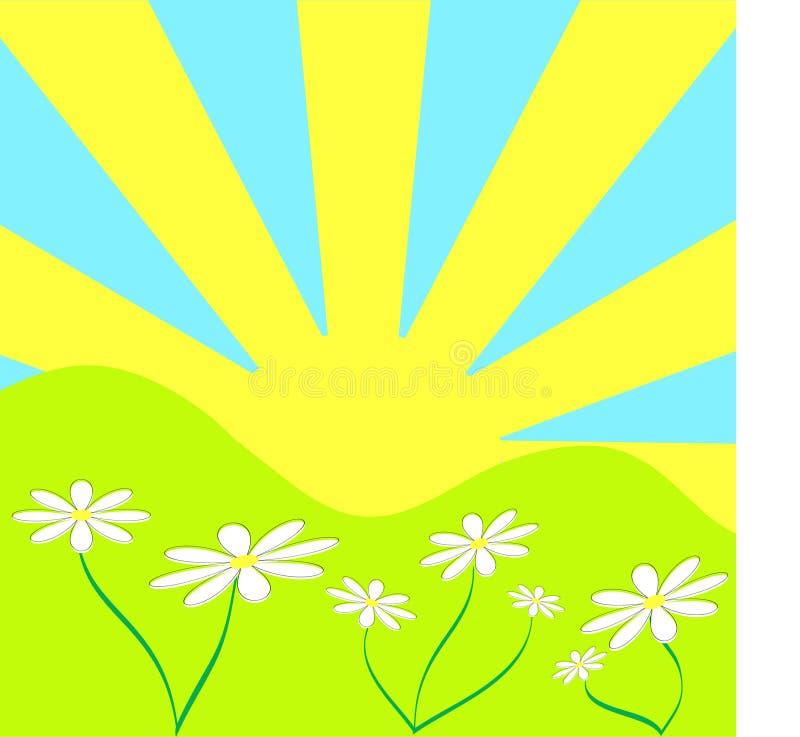 предпосылка солнечная иллюстрация штока