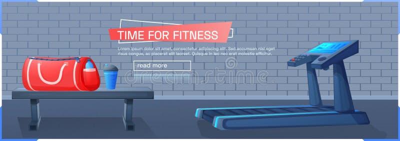 Предпосылка спорта с третбаном для бега бесплатная иллюстрация