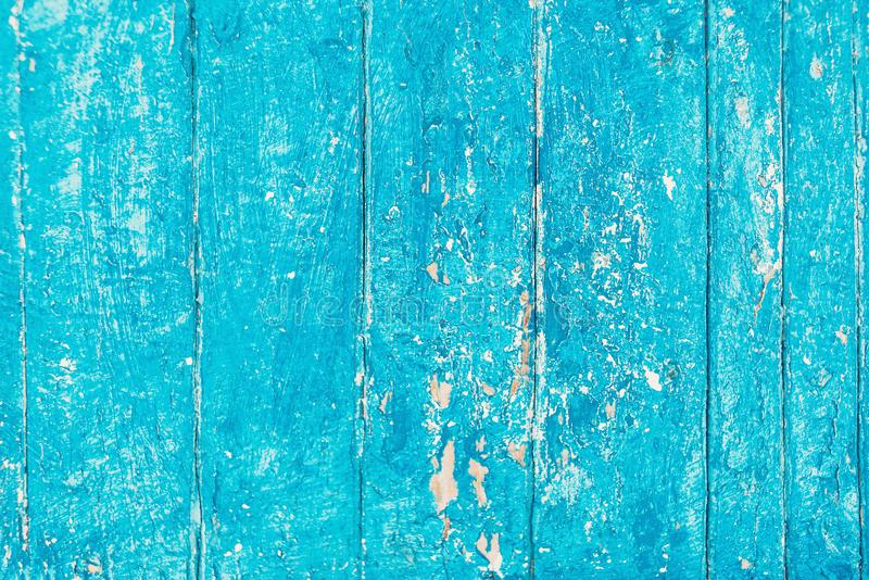 Предпосылка старого пляжа деревянная - затрапезный винтажный голубой цвет деревянный t стоковая фотография rf
