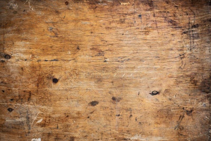 Предпосылка старого grunge темная текстурированная деревянная Взгляд сверху стоковое изображение