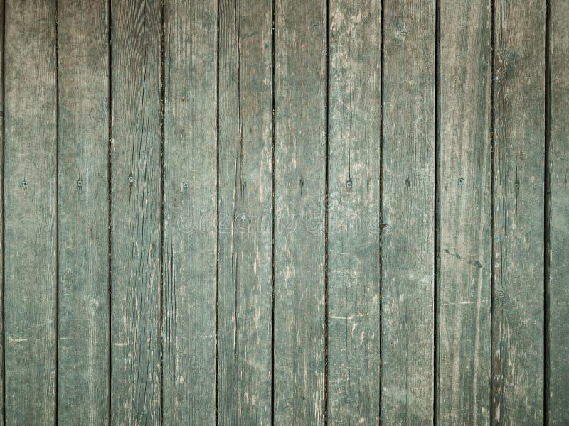Предпосылка старых деревянных винтажных доск текстуры покрашенных с зеленой краской стоковая фотография rf