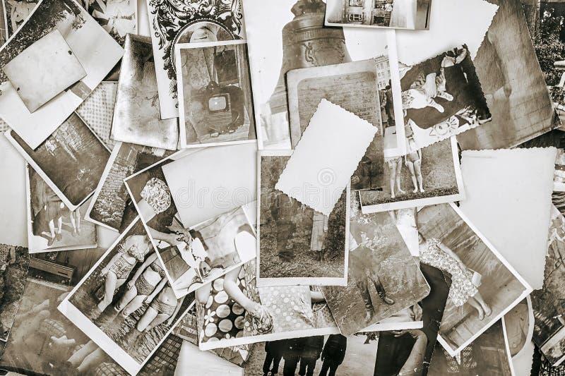 Предпосылка старых ретро фото от альбома семьи стоковое фото rf