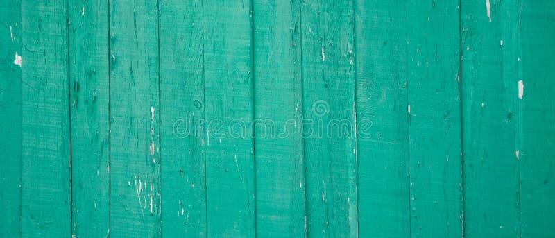 Предпосылка стены деревенской старой затрапезной бирюзы деревянная стоковое фото