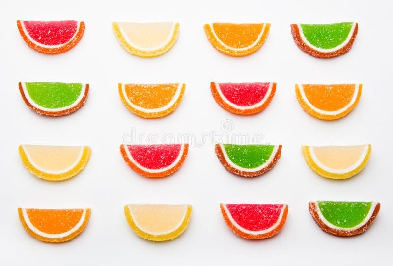 Предпосылка студии конфеты мармелада лимона качественная белая стоковые фото