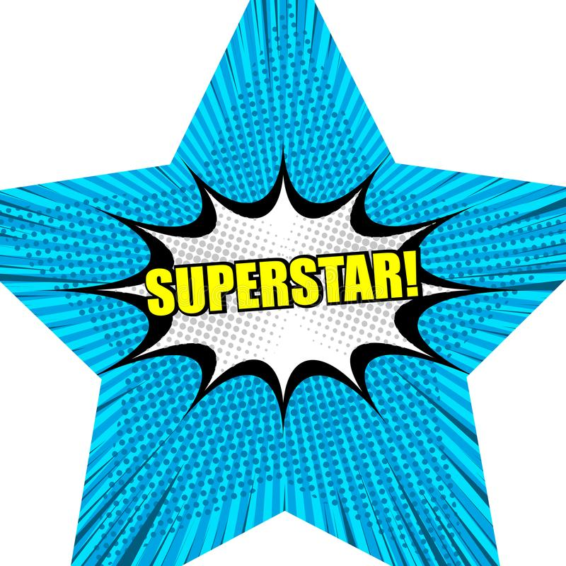 Предпосылка суперзвезды шуточная иллюстрация штока