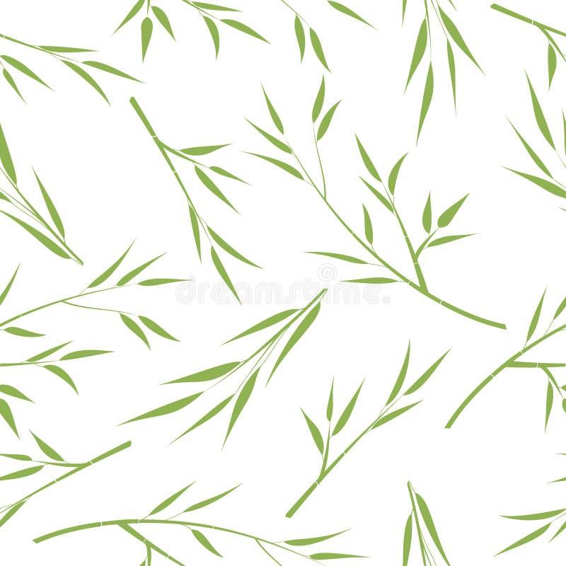 Предпосылка с бамбуковыми ветвями, вектор Силуэт ветвей с листьями бесплатная иллюстрация