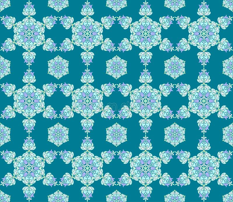 Предпосылка с безшовной картиной в исламском или индийском стиле бесплатная иллюстрация