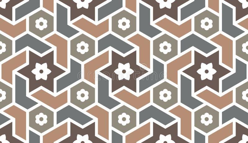 Предпосылка с безшовной картиной в исламском стиле иллюстрация штока