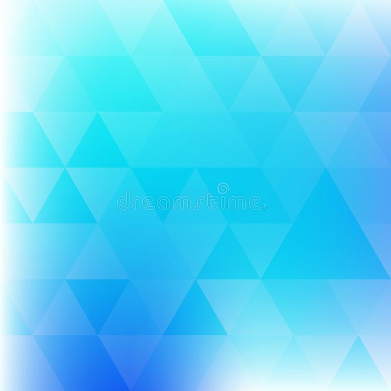 Предпосылка с бирюзой и голубыми треугольниками покрасьте вектор возможных вариантов картины различный иллюстрация вектора
