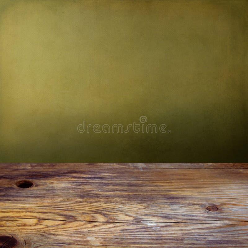 Предпосылка с деревянным tabletop стоковые изображения