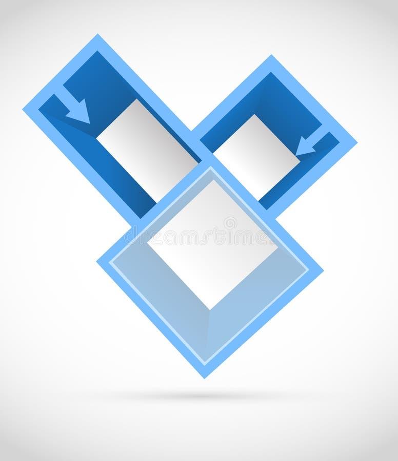 Предпосылка с квадратами иллюстрация вектора