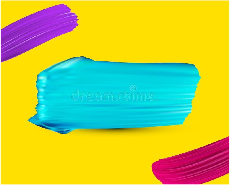 Предпосылка с красочными ходами кисти бесплатная иллюстрация