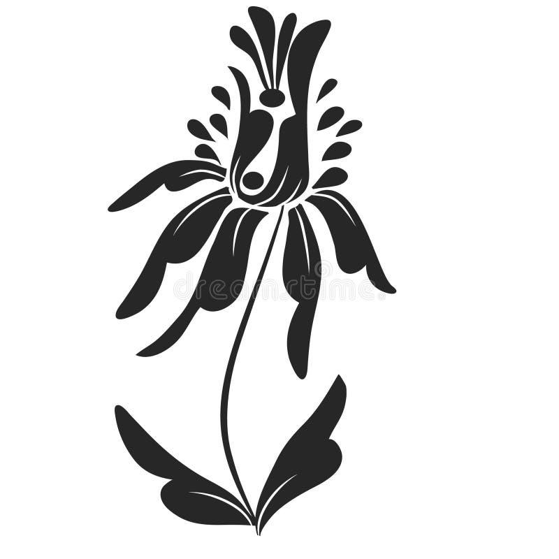 Предпосылка с лиством и цветком иллюстрация вектора