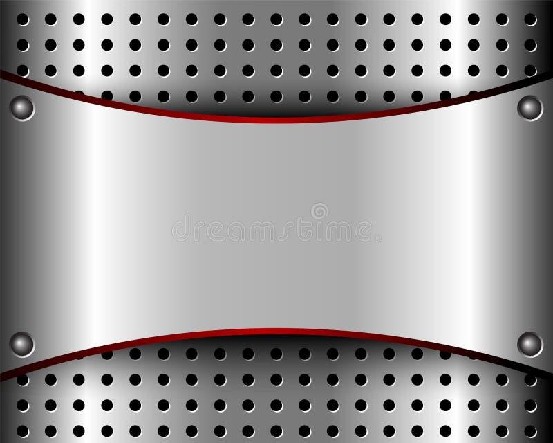 Предпосылка с металлопластинчатым и решеткой бесплатная иллюстрация