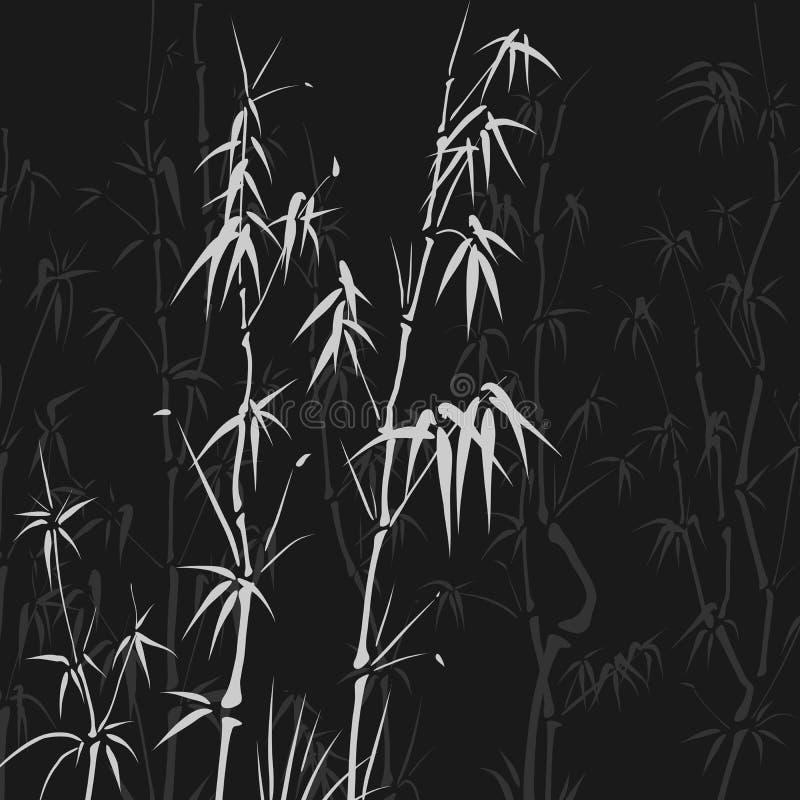Предпосылка с много бамбук в азиатском типе. иллюстрация вектора