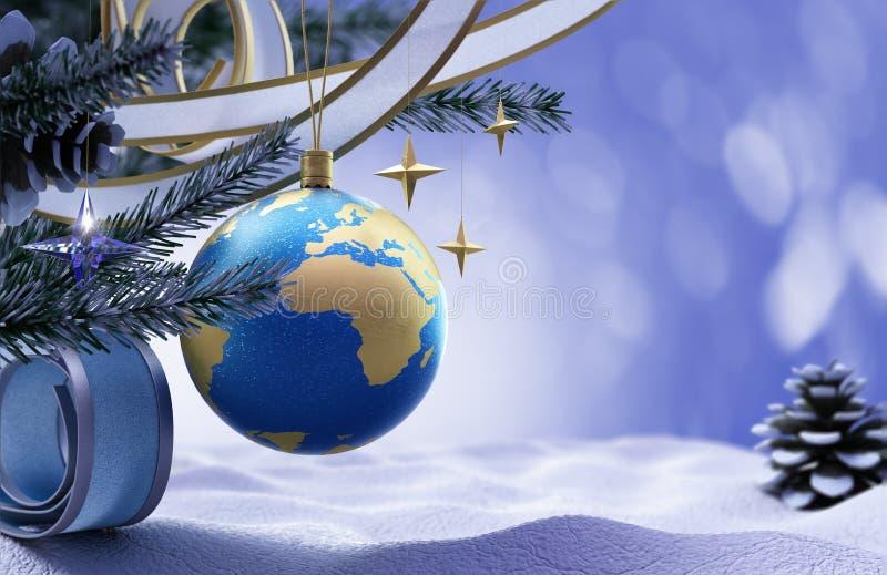 Предпосылка с новым годом и с Рождеством Христовым стоковая фотография