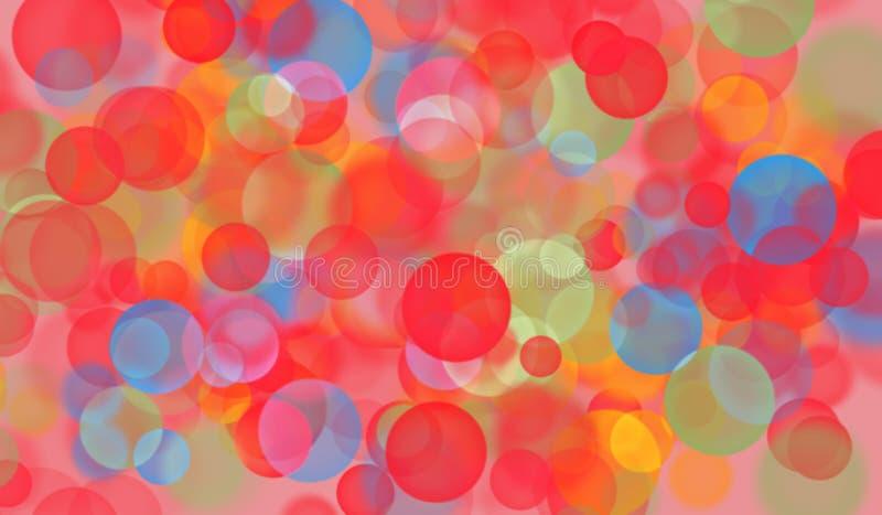 Предпосылка с пузырями и самыми интересными, красными стоковые фотографии rf