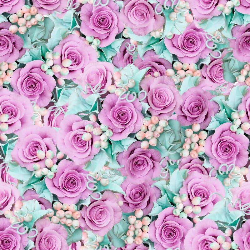 Предпосылка с розами стоковое фото