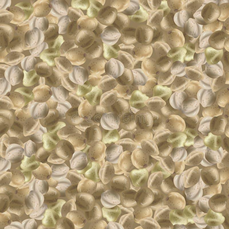 Предпосылка с семенами пеньки Пук марихуаны также вектор иллюстрации притяжки corel иллюстрация штока