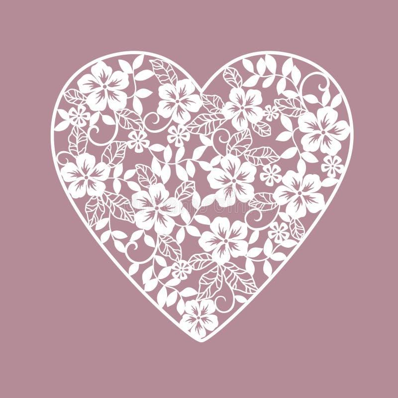 Предпосылка с сердцами от цветков иллюстрация вектора