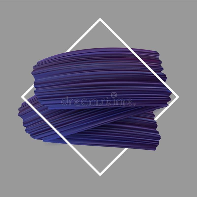 Предпосылка с фиолетовыми ходами кисти иллюстрация штока