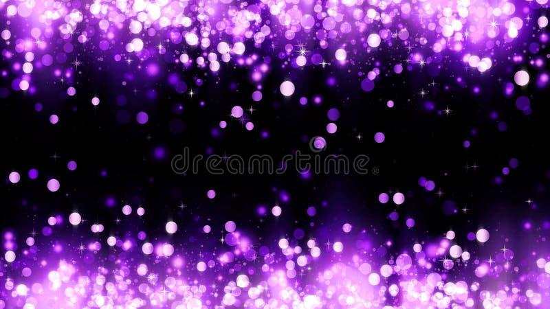 Предпосылка с частицами яркого блеска мадженты Шаблон предпосылки красивого праздника пурпурный, наградной дизайн Яркие частицы м стоковая фотография