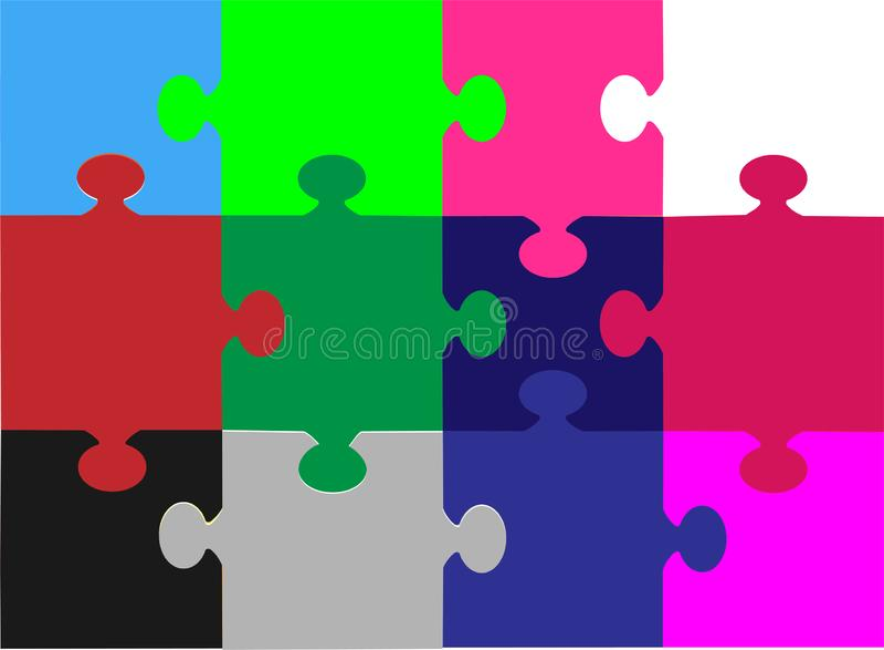 Предпосылка с multicolor иллюстрацией вектора головоломки иллюстрация штока