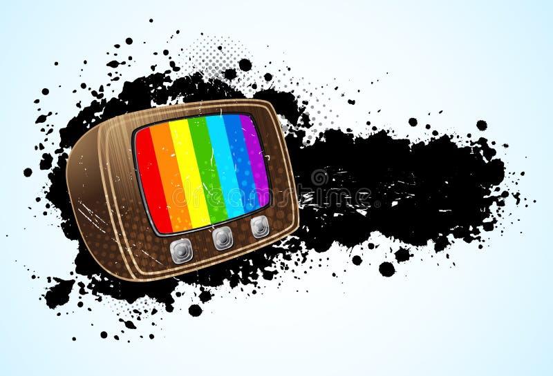 Предпосылка с tv иллюстрация вектора