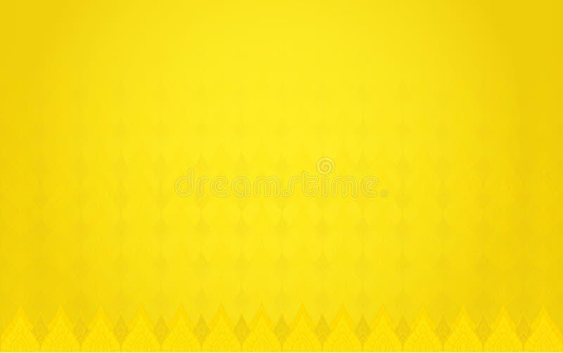 Предпосылка тайской предпосылки цвета золота традиции яркая иллюстрация штока