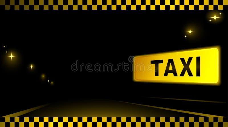 Предпосылка такси с автомобилем и светом города бесплатная иллюстрация