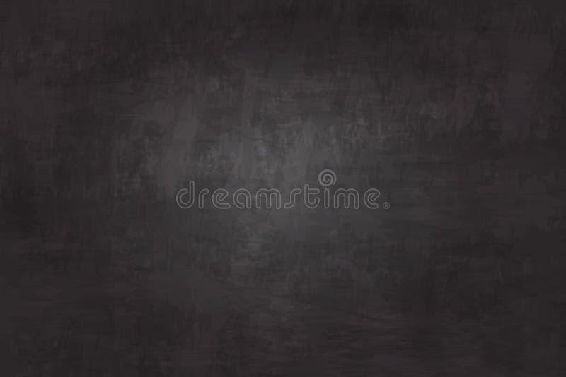 Предпосылка текстуры доски реалистической иллюстрации детальная черный цвет Изображение для концепции образования бесплатная иллюстрация