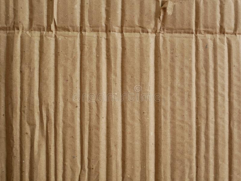 Предпосылка текстуры картона, коричневая текстура бумажной коробки стоковое изображение rf
