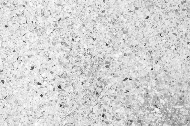 Предпосылка текстуры старого terrazzo безшовная, естественные картины отполировала пол камня серый, черный, белый стоковые фото