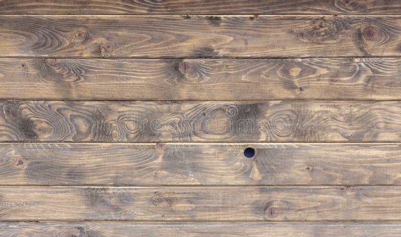 Предпосылка текстуры стены планки Брайна деревянная стоковые фотографии rf