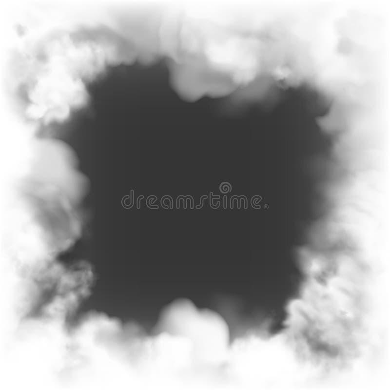 Предпосылка темноты рамки дыма иллюстрация штока