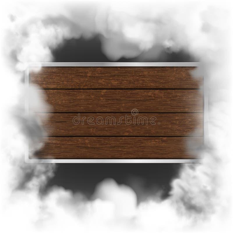 Предпосылка темноты экрана рамки дыма деревянная бесплатная иллюстрация