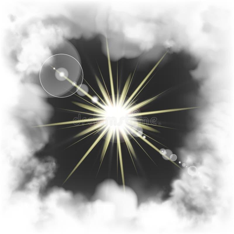 Предпосылка темноты яркого блеска рамки дыма яркая иллюстрация вектора