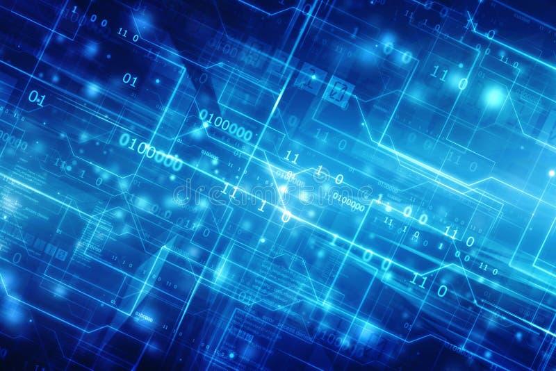 Предпосылка технологии абстрактная, футуристическая предпосылка, концепция виртуального пространства иллюстрация вектора