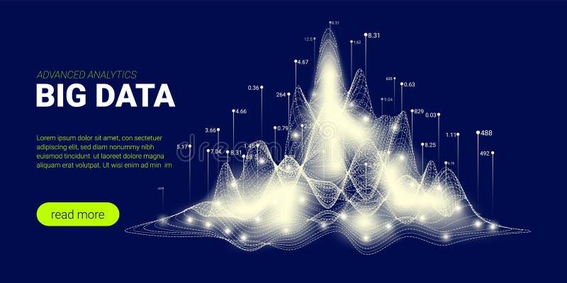 Предпосылка технологии, большой поток данных иллюстрация штока